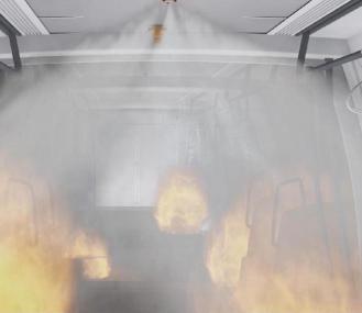 细水雾降尘降温装置